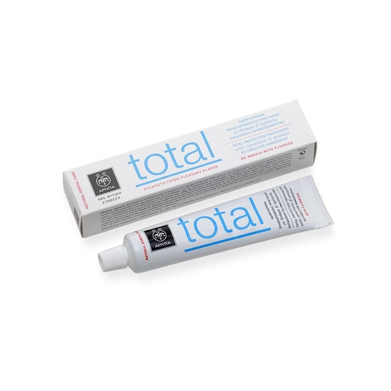 Apivita Οδοντόκρεμα Total με δυόσμο & πρόπολη 75ml