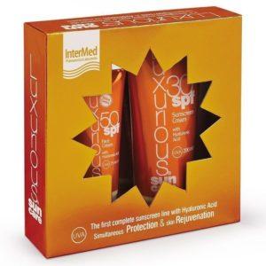 Intermed Luxurious Set Medium Protection Face Cream SPF50 75ml & Sunscreen Cream SPF30 200ml