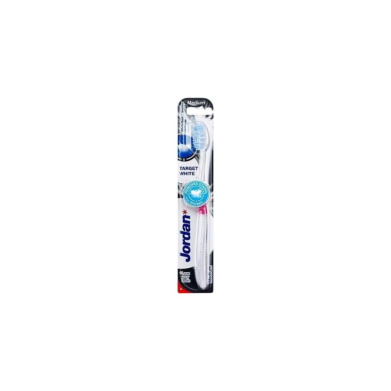 Jordan Target White Οδοντόβουρτσα Medium 1τμχ