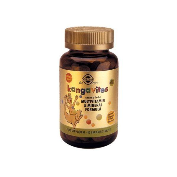 Solgar Kangavites Complete Multivitamin & Mineral Formula Tropical  60chew